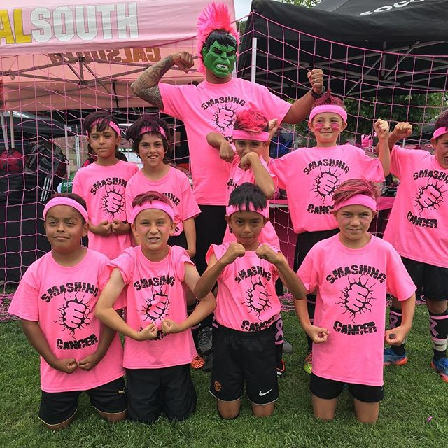 B2009 FC Heat Blk Escobedo are Smashing cancer. #kickinitchal #komensd