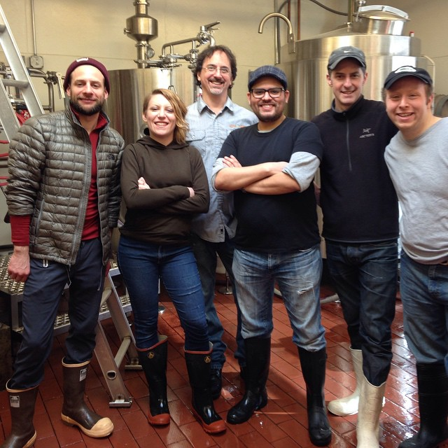 The day's motley crew of brewers;  Ray, Sheri, John, Me, Ethan, and Barry (not pictured: Doug)