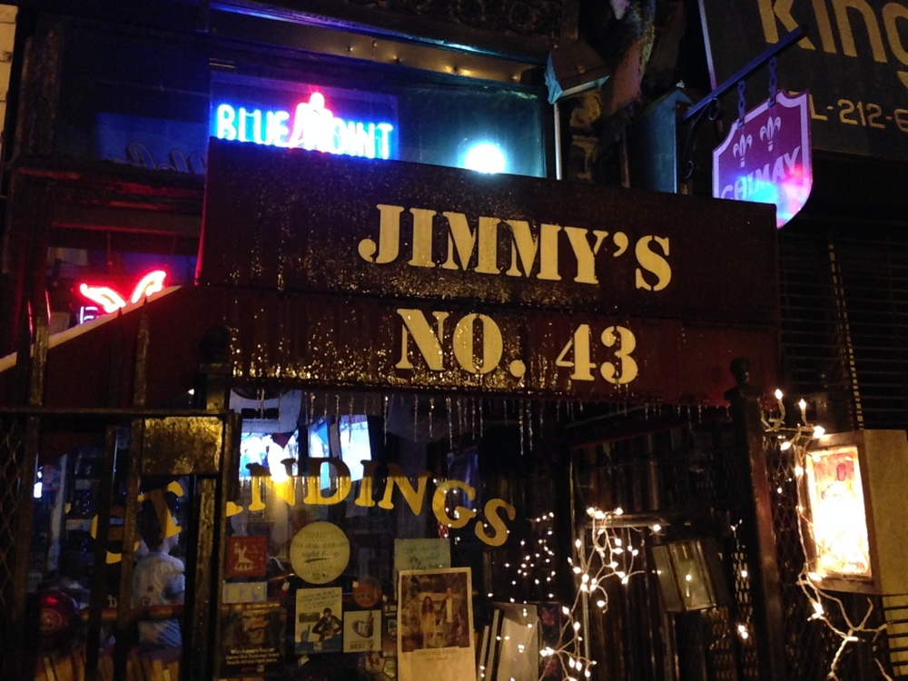 The entrance to Jimmy's No. 43 in February of 2013.
