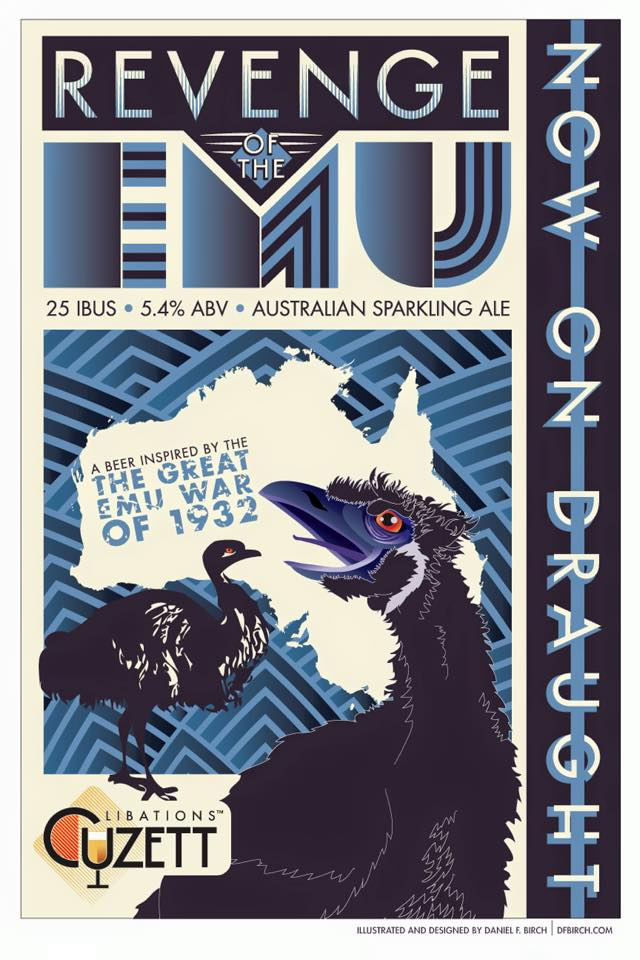 Revenge of the Emu (label designed by Daniel Birch)