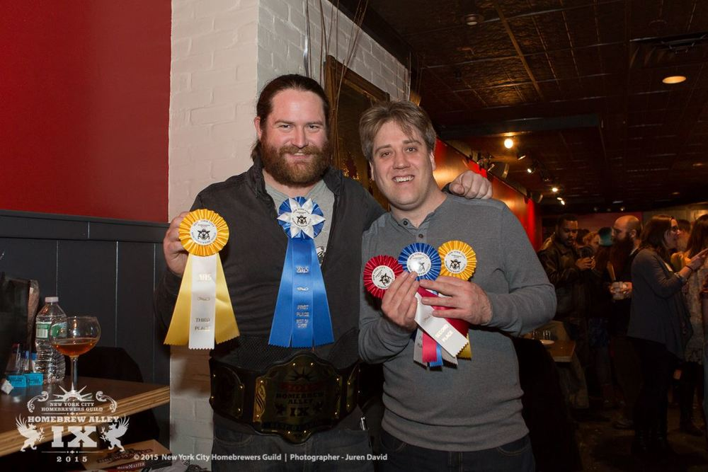 Peter Salmond and Oskar Norlander (Photo: NYC Homebrewers Guild Facebook page)