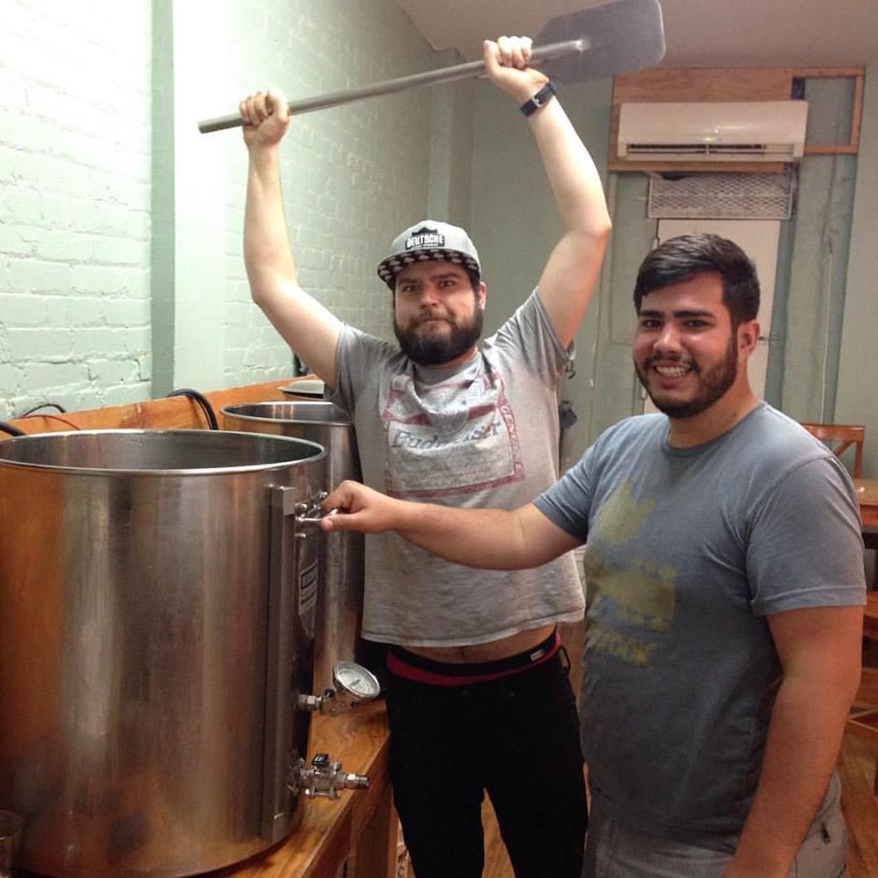 Xavier Jirau Serrano (R.) and Morgan Snyder of the Bronx Brewery (L.)