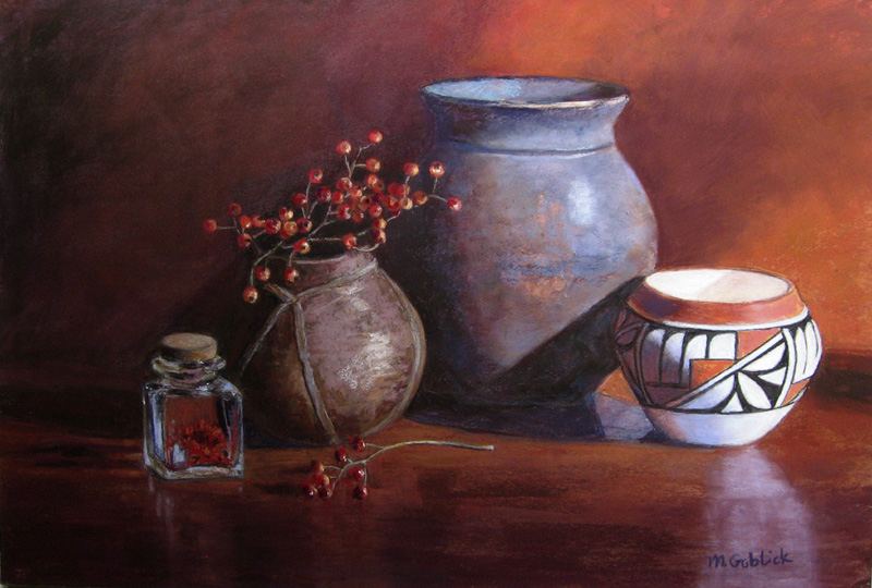 Rose Hips and Pottery-Maryann Goblick.jpg