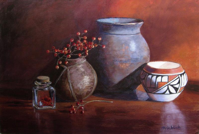 Rose Hips and Pottery-Maryann Goblick.jpg