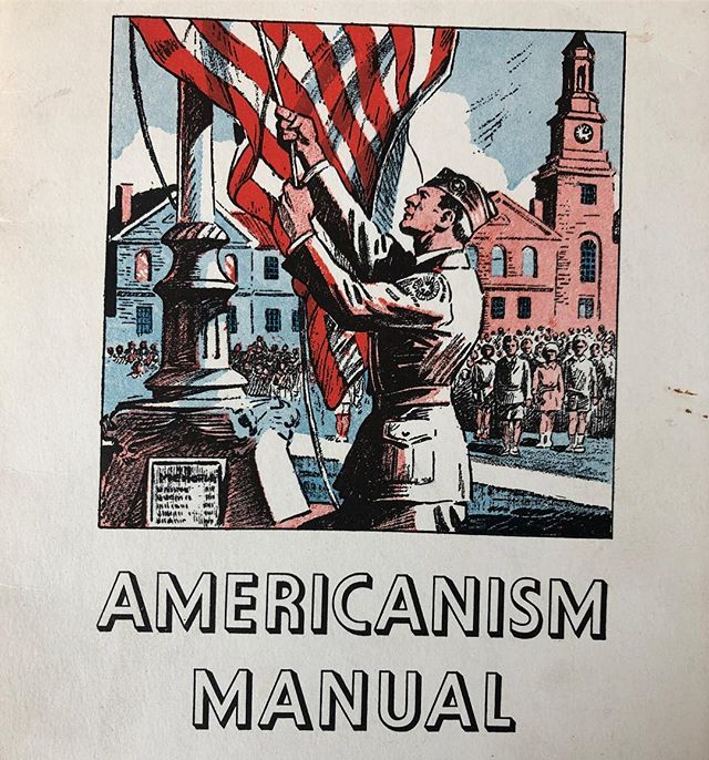 Oh my little doveys, come close close close, winkles under our eyes we gleam high and bright with yuppie yup smiles, gather the little bitty ones, one by one, and I know, dovey, it's cold but bright under our big blankets! ___________ An Americanism manual from Kansas, from the 1930s. #kansas #americanism #americana #patrioticeducation