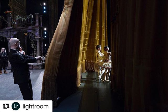 #Repost @lightroom ・・・ Photo by @sarahblesener for #AdobeRisingStars    The last photo of my takeover is from an assignment for the New York Times – a behind-the-scenes look while Christine Shevchenko of the American Ballet Theater takes a final bow after her debut performance as Kitri in Don Quixote at the Metropolitan Opera. Alban Lendorf plays the role of Basilio, her character's love interest. Thanks for joining me this week!