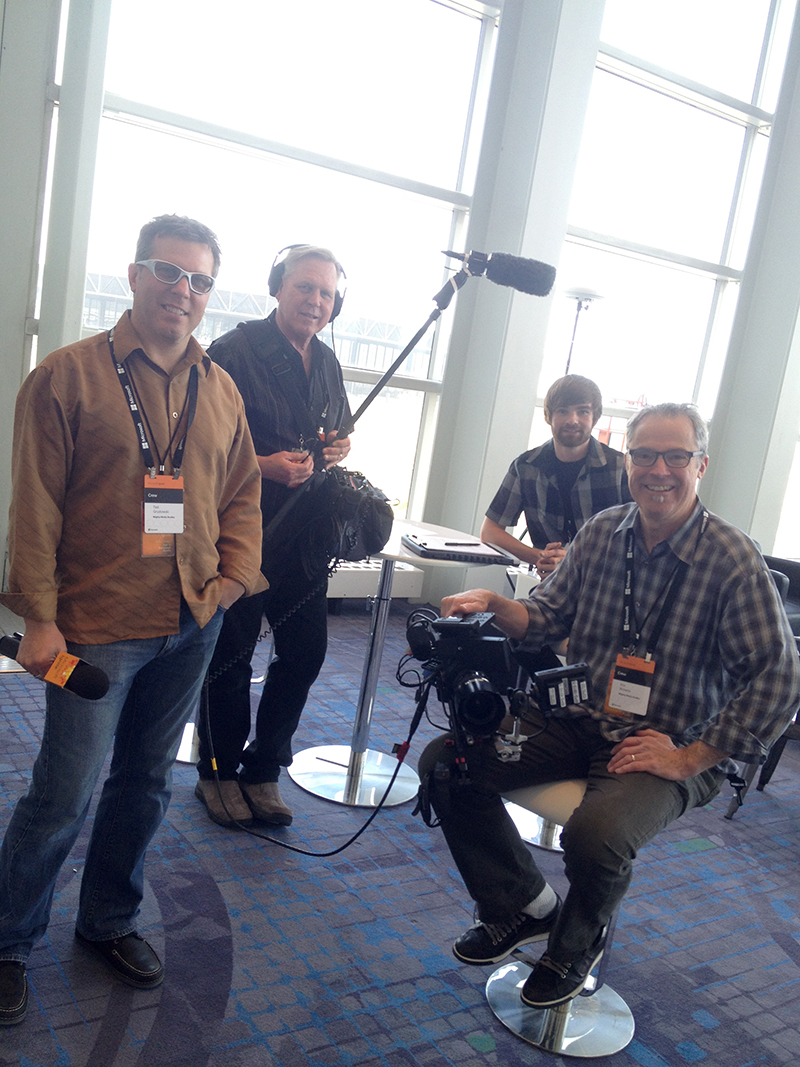 Our Mighty Media field crew at Ignite in Chicago ,  with Eric Browne, Dave Sorenson, and Nick Miller