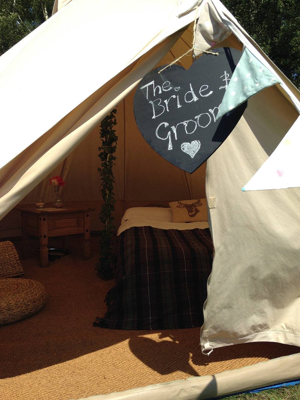 South Coast Glamping bridal tent at Fiesta Fields