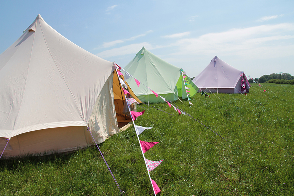 Bay Lily Bell Tents Fiesta Fields