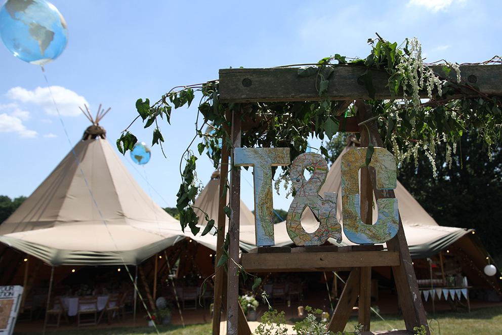 Tipi wedding at Hidden Valley Fiesta Fields