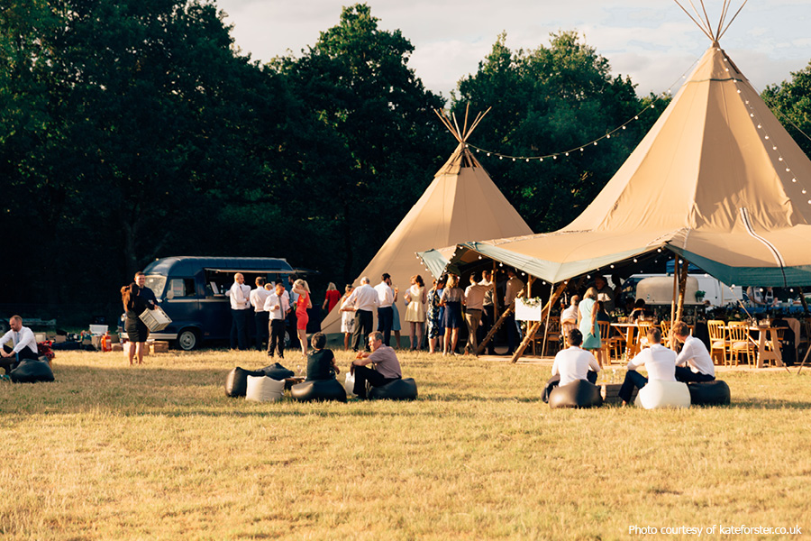 Tipi wedding at Phoenice Fields