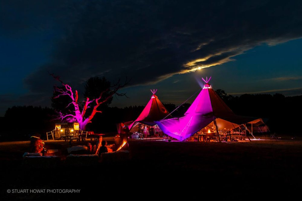 Tipi wedding at Hidden Valley