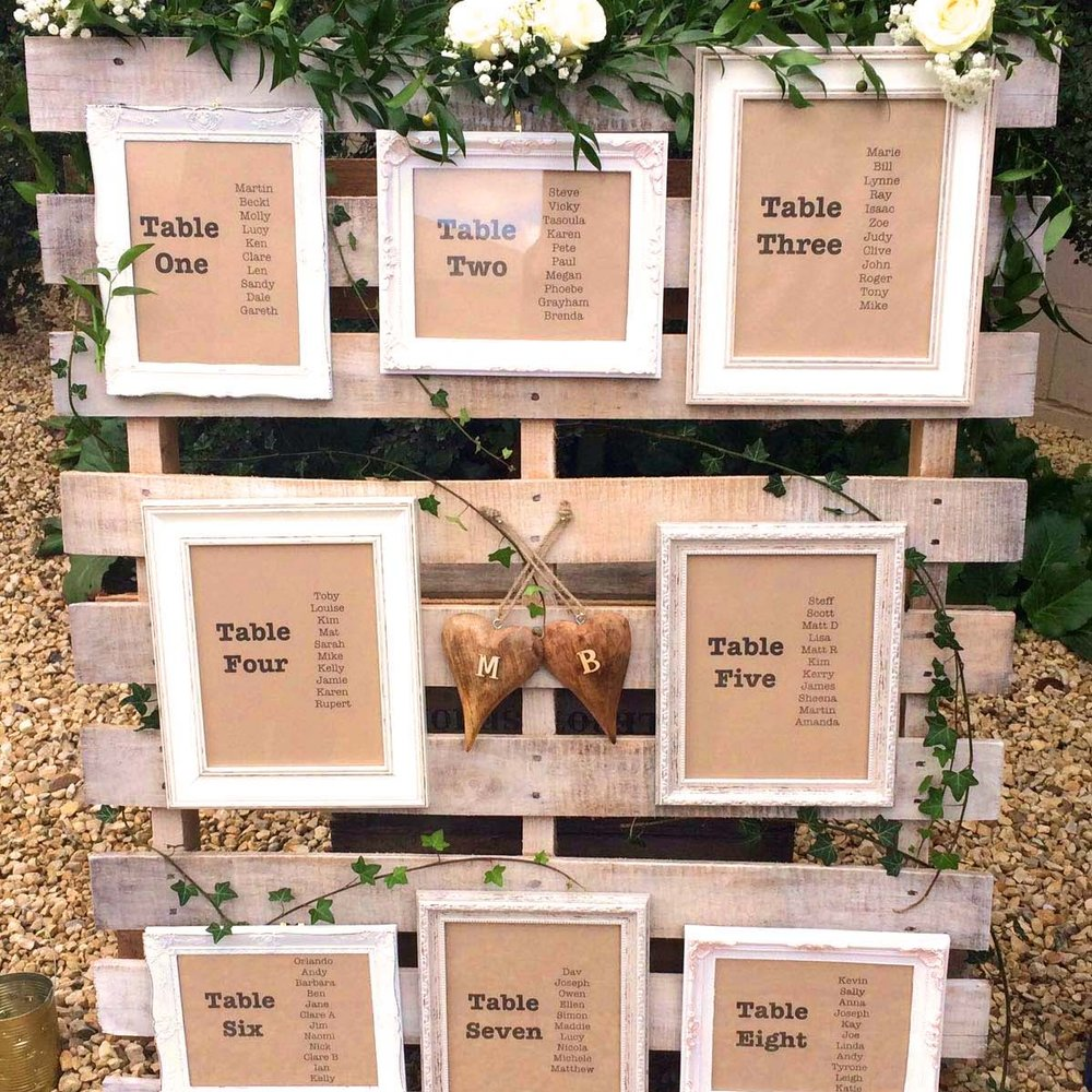 PALLET TABLE PLAN  Whitewashed wooden pallet  to hire @ £70 or keep for £120