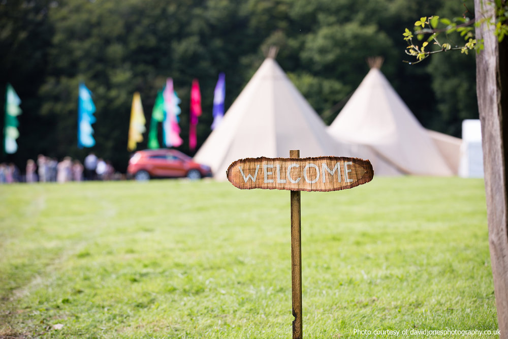 Tipi Wedding at Staffhurst Wood