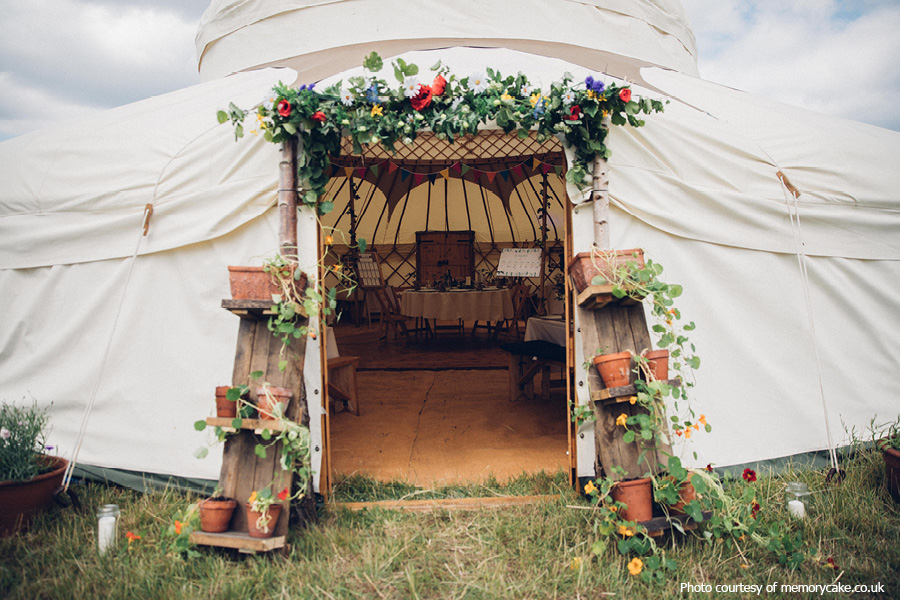 Yurt wedding at Phoenice Fields