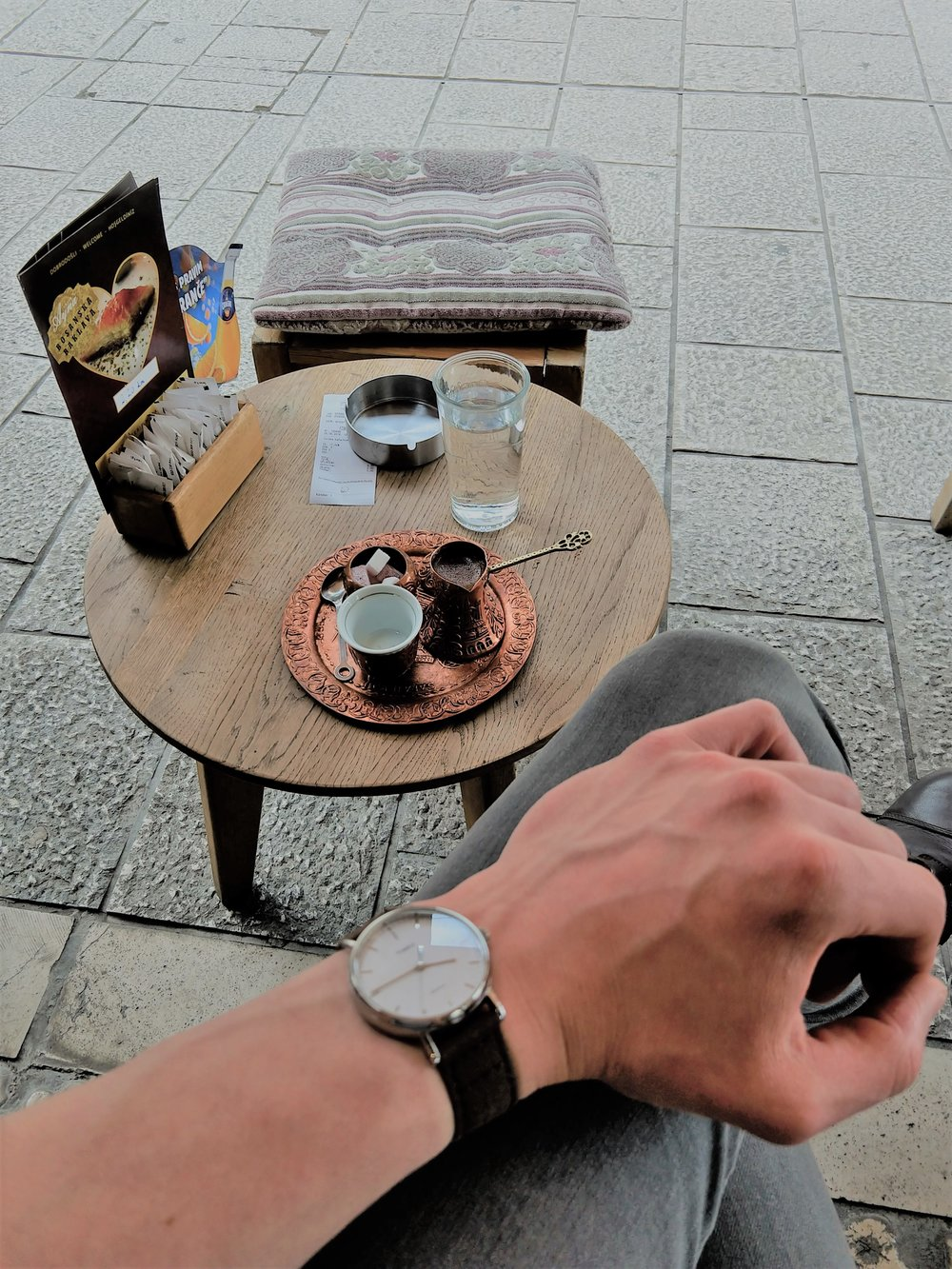 "- Coffee in Sarajevo. You really can't beat this ""office."" Where is the coolest place you've ever worked?"