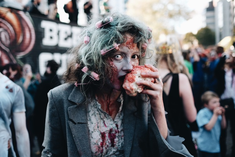 Zombies - A chance encounter with Bristol's annual Zombie Walk.