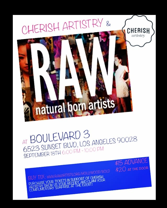 Flyer from Raw Artists September 2015