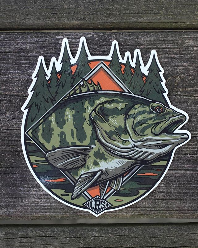 "Loving these new Smallmouth stickers for @lakesriversstreams. I drew this design awhile ago and we had it ""sitting on the shelves"" for a bit but I'm excited we dug them out and made some gnarly stickers out of it. Pick one up at LakesRiversStreams.com!  lakesriversstreams______________ #lakesriversstreams  #LRS  #gowiththeflow  #fishing #ourdoors #getout  #getoutside  #flyfishing  #trout #Rainbowtrout  #Browntrout  #salmobutta  #steelhead #pike #musky #muskyonthefly  #Bass  #smallmouth  #smallmouthbass  #smallmouthonthefly  #Floatfishing  #centerpin  #outdoors  #explore  #lakes  #rivers  #streams"
