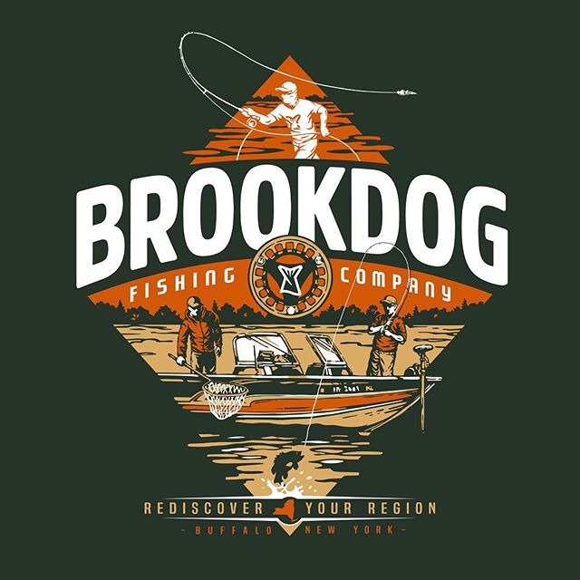 Design I finished up recently for @brookdogfly through my brand @lakesriversstreams. Fun stuff right here, looking forward to rocking this once it's on some tees.  #brookdog #lakesriversstreams  #LRS  #fishing #flyfishing #rediscoveryourregion #art #design #illustration