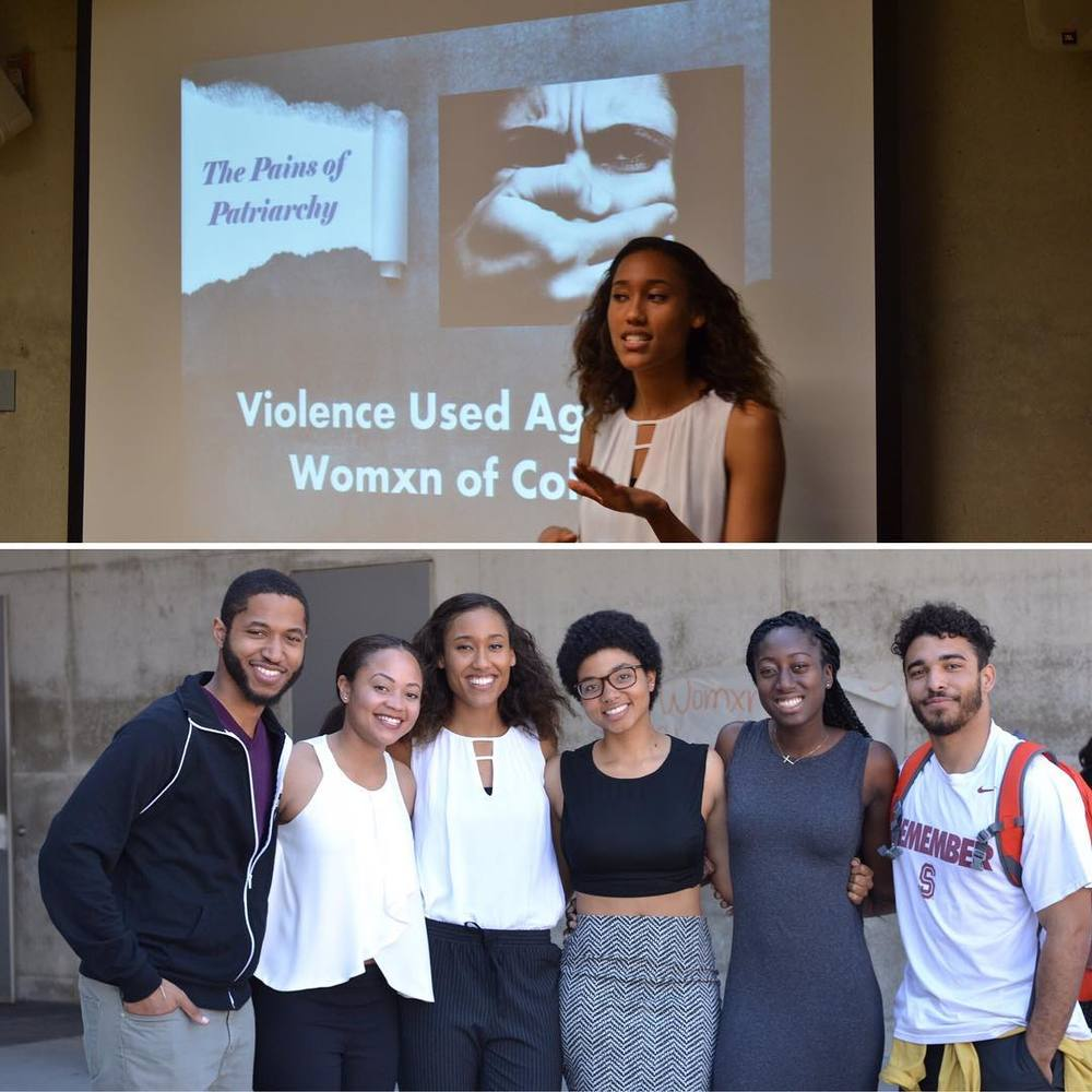 "Presenting at the ""Womxn of Color Conference"" hosted by UCSB on ""The Pains of Patriarchy: Violence Used Against Women of Color"""