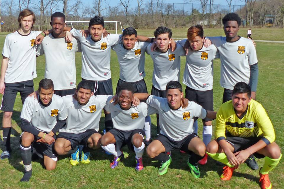 Kensington SC U19 Boys. Winners of Rock League Spring 2015. (Not pictured) Head coach David Hicks.