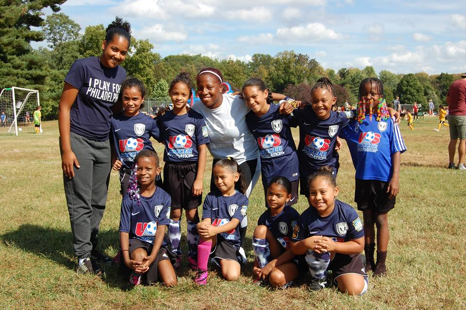 Kensington Soccer Club's U9 Girls at the 2017 United Philly 7v7 tournament.