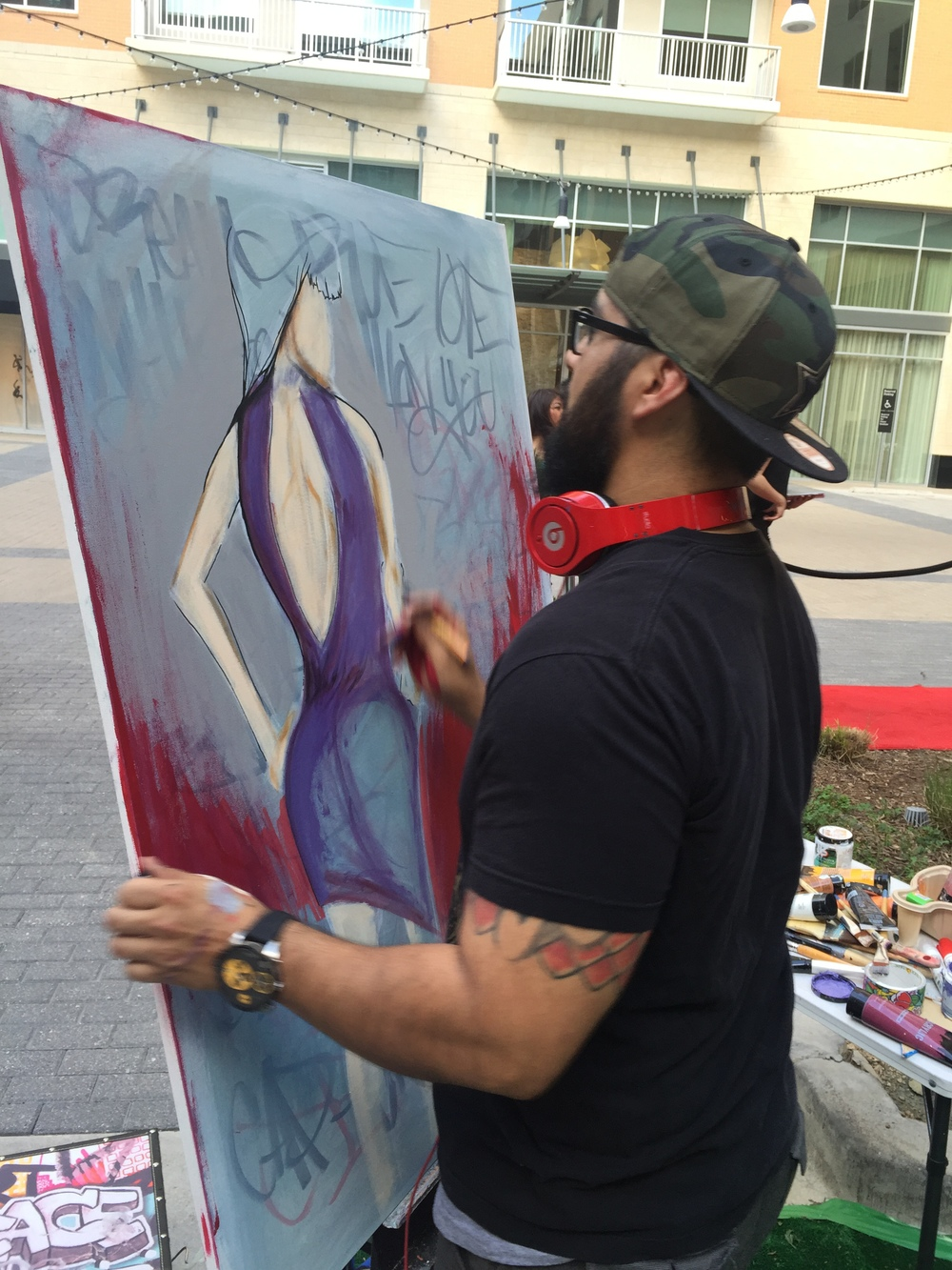 painting live in UPTOWN Dallas tx for Samsung 2015