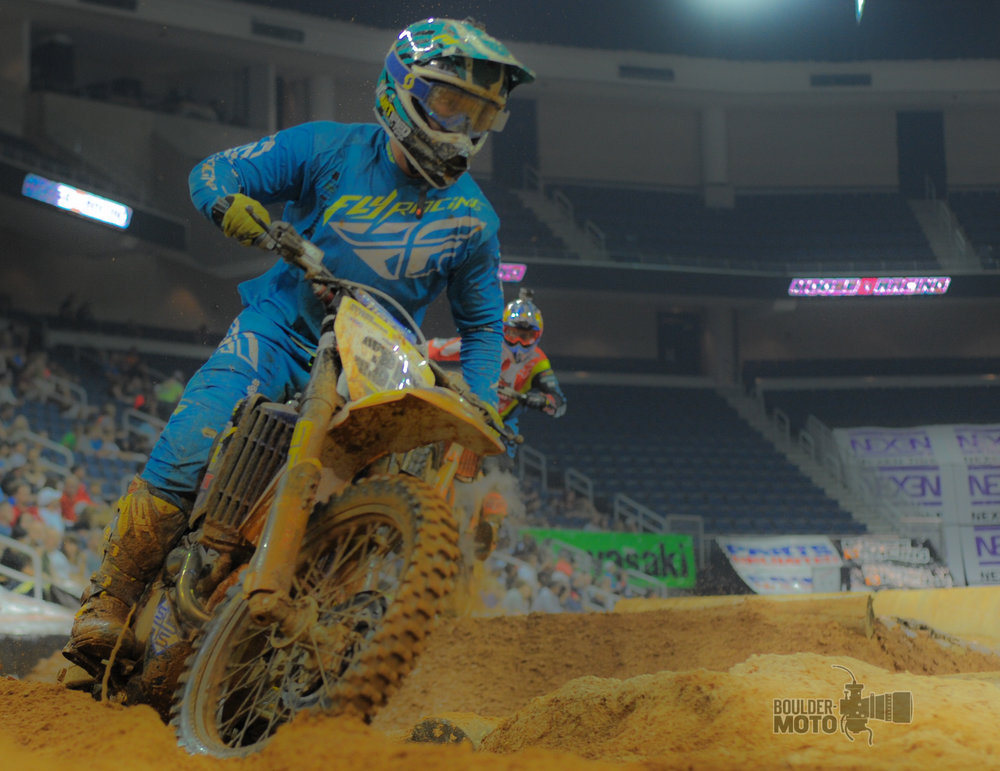 KTM's Taddy Blazusiak chases down Srt's Mason Ottersberg for a a dramatic finish in Atlanta.