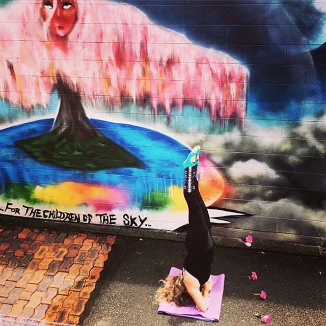 """Awesome arm headstand @kimmcleod1 ans de love your words """"Because L😍VE is what makes the world go around ❤️ and gets us upside down! 🙃"""" you rock your Tucketts! #yoga #yogi #yogachallenge #lovewhatyoudo #lovetucketts #tuckettsforeveryone #pilates #barre"""