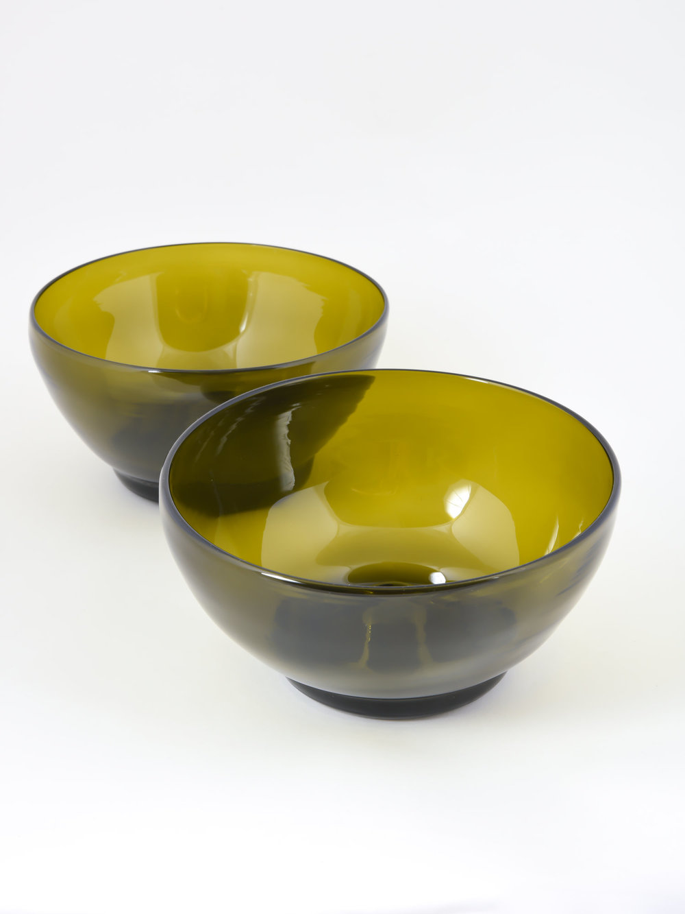 Champagne Bottle Portion Bowls ($175), Remark Glass