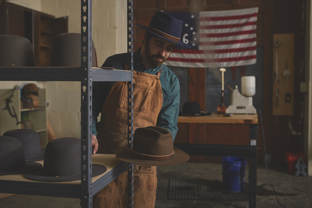 """Whisler Civilian Co. makes timeless felt hats individually handcrafted using a traditional wood-blocking technique. Every Whisler Civilian hat is hand-blocked, cut, and styled in-house, meaning each is a true heirloom that will last and grow with the wearer for adventure after adventure, year after year.""   website:    www.whislercivilian.com"
