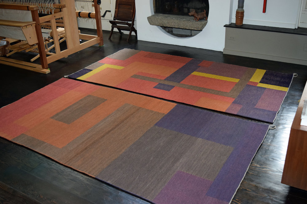 Ann Roantree specializes in the design and weaving of one of a kind and limited edition contemporary handwoven rugs and interior textiles. Ann's weavings are suitable to a wide range of interiors, but are particularly applicable for authentic or inspired Modernist settings.   website:   www.roantreeweaves.com