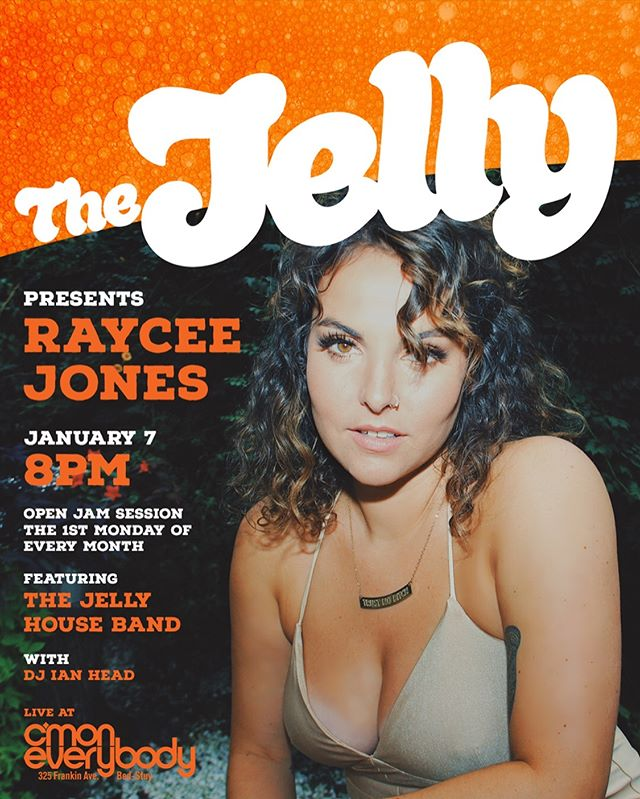 See you tonight!!!! 😍 8pm @cmoneverybodybk @thejellybk . . . . . #thejellybk #brooklyn #music #jamsession #houseband #collaboration #community #theone #rayceejones #livemusic #independent #inspiration #mcm #wintervibes