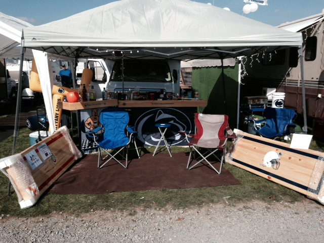 Our tailgate and setup for sales.. It was quiet here.. but rocking later on!
