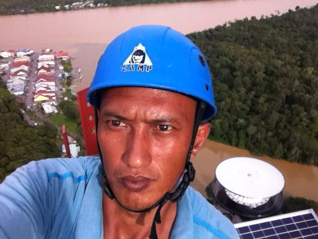 Installation of MS-2KP on tower top
