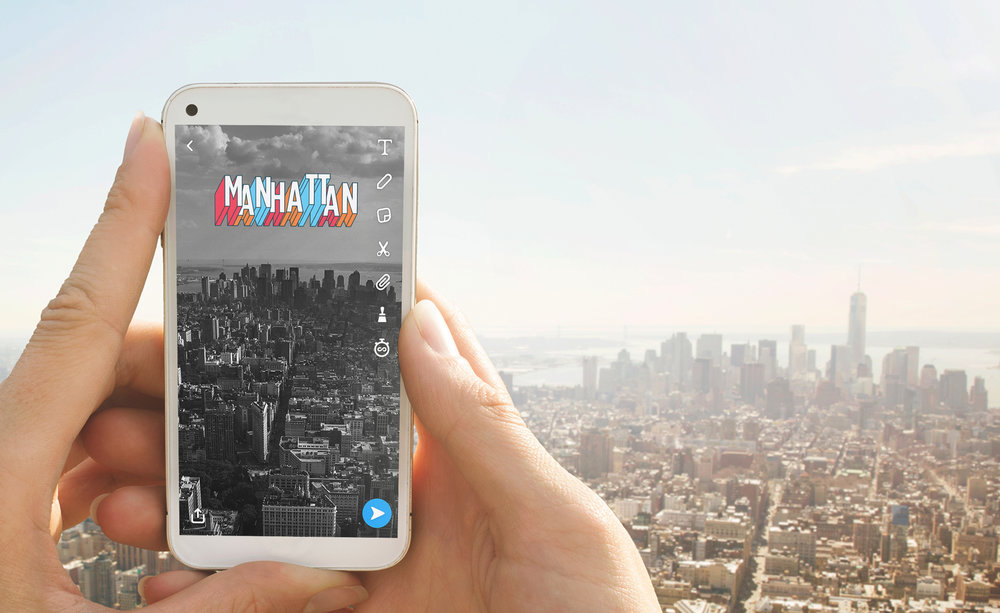 Typography Manhattan Snapchat Geofilter by Josh Namdar