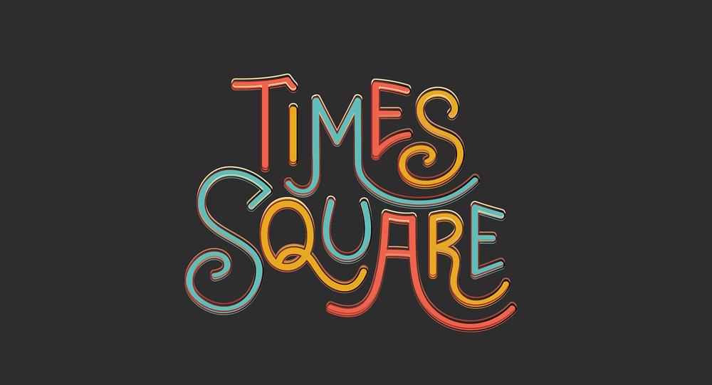 Typography Times Square Snapchat Geofilter by Josh Namdar