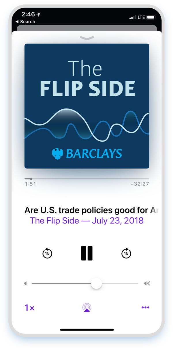 Barclays Podcast The Flip Side Design