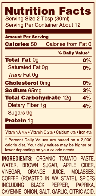 Gluten Free    High Fructose Free    low sodium    Whole Ingredients
