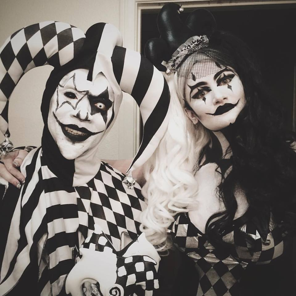 Evil Jester and Harlequin