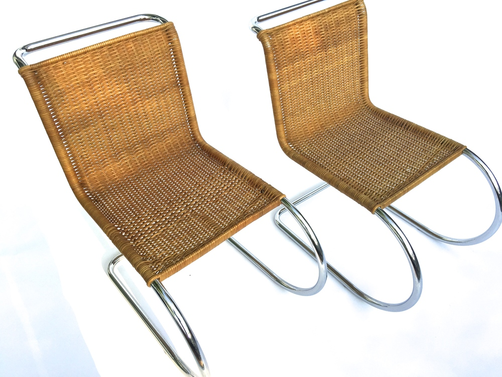 Mies Van Der Rohe MR10 Cane Chairs