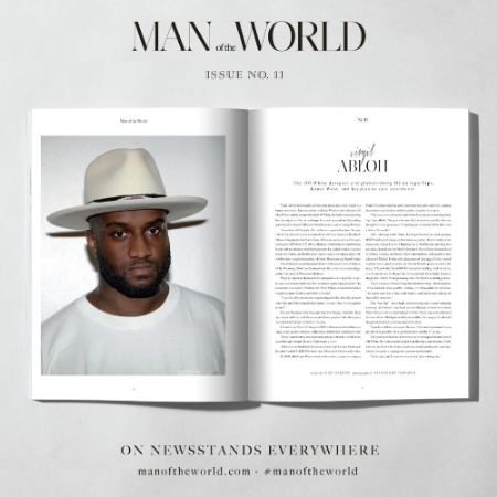 Virgil Abloh profile for   Man of the World   Vol. 11