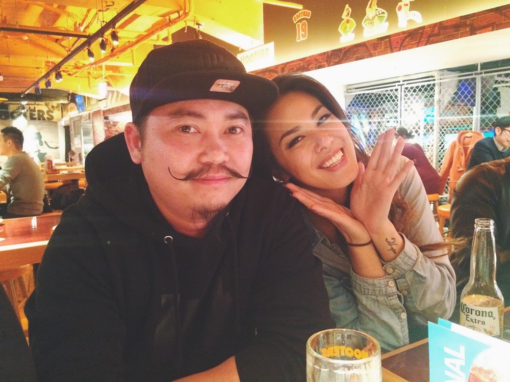 Look who made it out! Jenny Lam. We checked out Hooters Japan.