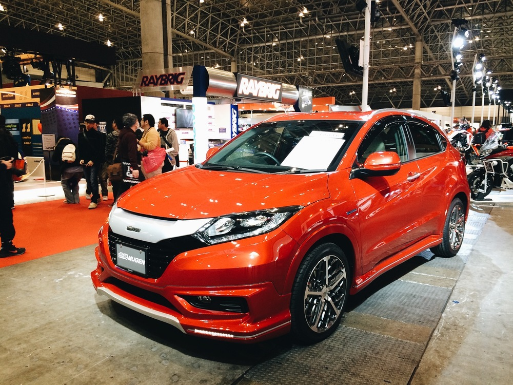 This is the new Honda HR-V in the states, not sure what its called in Japan but this is the Mugen edition. I want one.