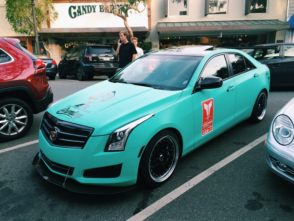 There was plenty of nice cars to be spotted in Laguna Beach but this Cadillac rocking the Targa Trophy decals stood out to me. Horrible wheel choice though, XXR, my car people will know what I'm talking about, that does not belong on this beast! But thumbs up to this car regardless.
