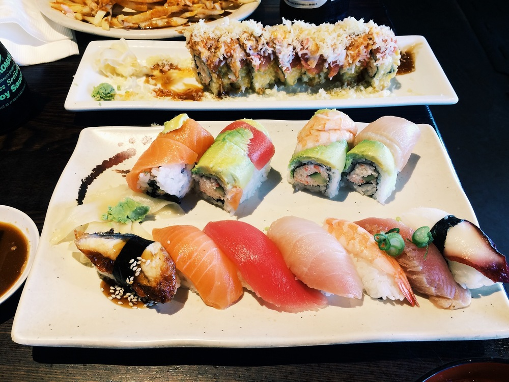 Let me be honest, Sushi Deli doesn't have the best sushi in town but it's really fun and really affordable. They do some some unique sushi rolls that is worth your time and money though.