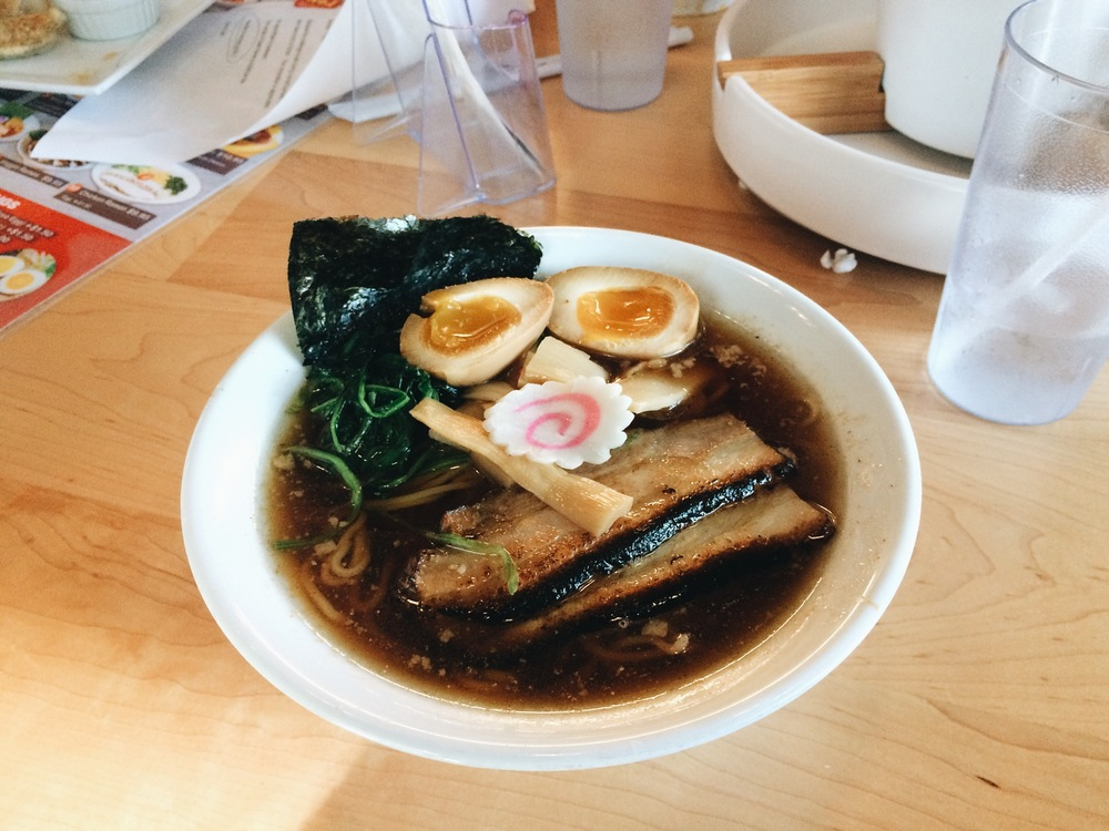 This is my ramen, Tokyo Shoyu Ramen #8. I can really taste how fresh their ingredients are.