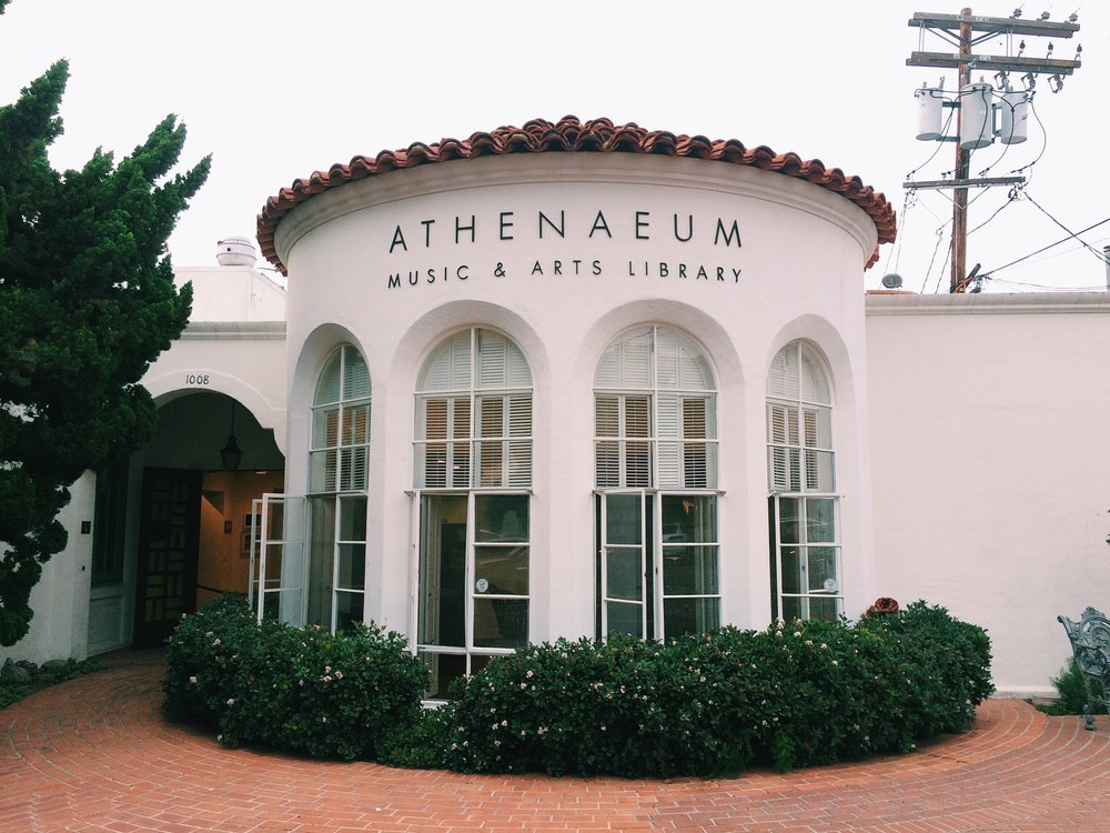 Downtown La Jolla got a lot of art galleries and this, Music & Arts Library. Love their support for art.