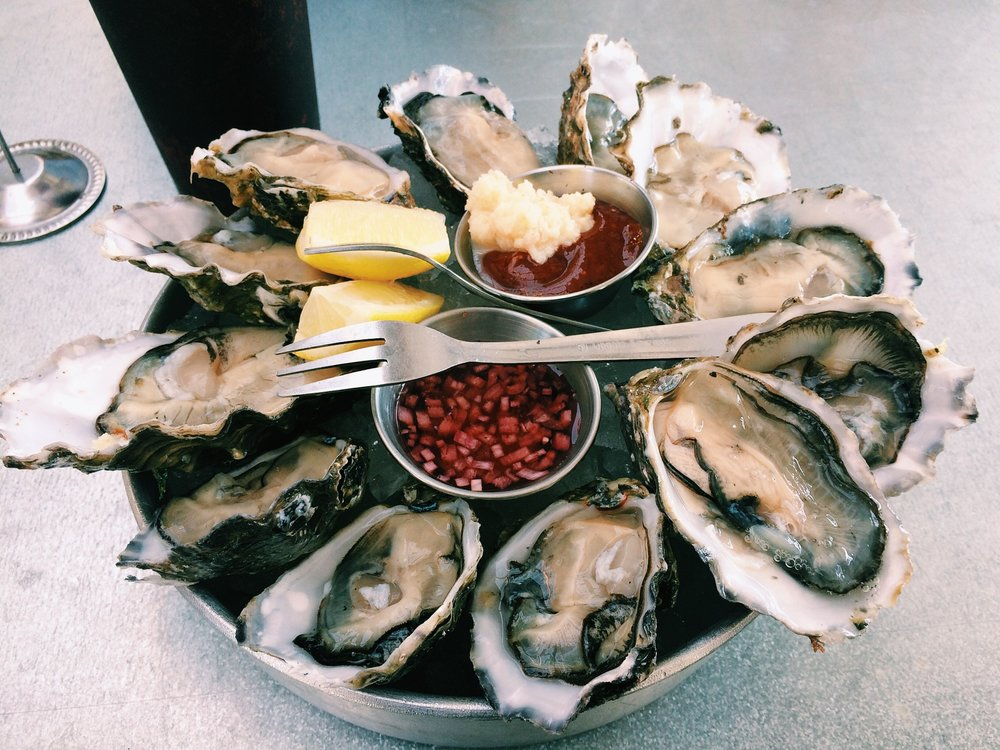 Dozen oysters for me.